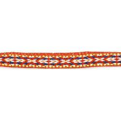 Ширит 12 мм червен с бяло и синьо -5 метра