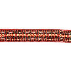Ширит 25 мм червен с жълто и зелено -5 метра