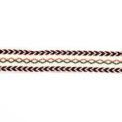 Ширит 30 мм бежов с кафяво зелено и синьо -5 метра