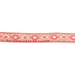 Banda 12 mm roz cu diamante albe și lama -5 metri