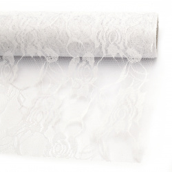 Дантела 48x450 см цвят бял