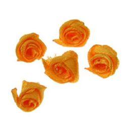 Роза 11 мм оранжева -50 броя