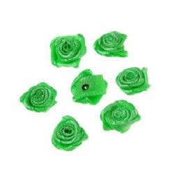 Rose 11 mm dark green  - 50 pieces