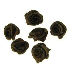 Trandafir 11 mm maron -50 bucăți