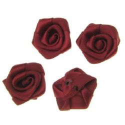 Rose 25 mm burgundy -10 pieces