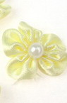 Rose 23 mm with white pearl yellow light -10 pieces