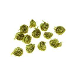 Trandafir de 8 mm șchiop aur -50 bucăți