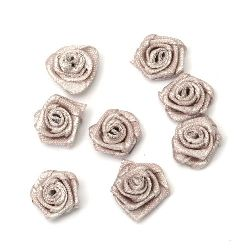 Rose 11 mm milk brown  - 50 pieces