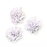 Decorative Fabric Flower, White 53mm 5pcs