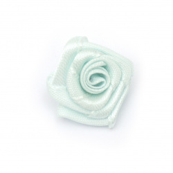 Decorative Rose 20 mm blue light -10 pieces