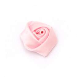 Rose 25x15 mm pink - 10 pieces