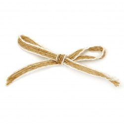 Burlap Ribbon Bow for gift decoration, DIY home decor projects 40x25 mm - 5 pieces