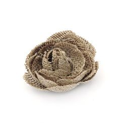 Burlap Flower, Decorations, Clothes, Craft, DIY 60 mm