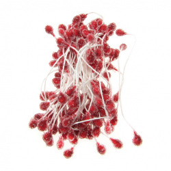 Decoration Stamens Sugar Type 5x7x57 mm red ~ 65 pieces