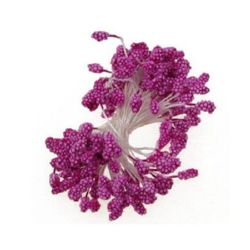 Styrofoam stamens  double-sided for decoration 5x7x57 mm deep pink ~80 pieces