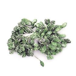 Styrofoam stamens  double-sided for decoration 5x7x57 mm green ~80 pieces