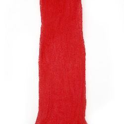 Polyester Sleeve for Nylon Flowers / Pantyhose / Red Dark - 5 Pack