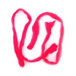 Полиестерен ръкав за найлонови цветя /тип чорапогащник/ розов -пакет 5 броя