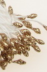Stamens with glitter double-sided 2.5x5x55 mm gold ± 150 pieces