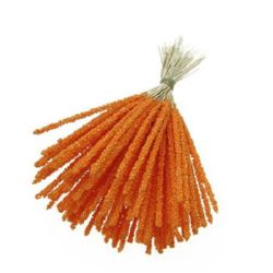 Styrofoam Balls Branch for Decoration 3.5x83x153 mm orange ± 100 pc