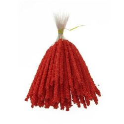 Styrofoam Balls Branch for Decoration 3.5x83x153 mm red ± 100 pc