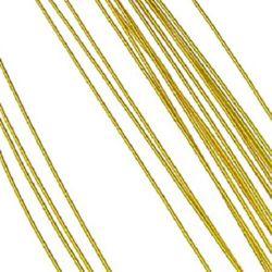 Тел цветарска 0.9 мм ~82 см цвят злато -20 броя