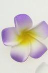 Цвете гумирано 40 мм лилаво бяло жълто -5 брой