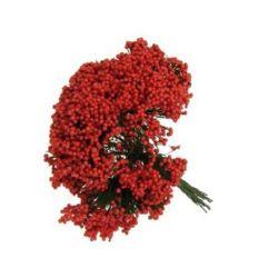 Bush bouquet 70 mm red -12 pieces
