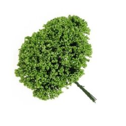 Διακοσμητικό ματσάκι θάμνος 70 mm πράσινο -12 τεμάχια