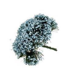 Букет храст 70 мм син светъл -12 броя