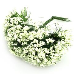 Bush bouquet 70 mm ecru -12 pieces