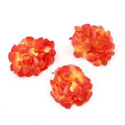 flori cuișoare de culoare 45 mm cu boboc pentru montare portocaliu -10 bucăți