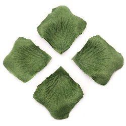 Petala de hârtie pentru decorare verde -144 bucăți