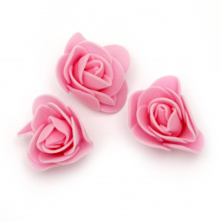 Rose color rubber for various decoration 35 mm  color pink -10 pieces