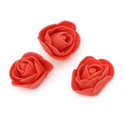 Culoare trandafir 35 mm culoare cauciuc roșu -10 bucăți
