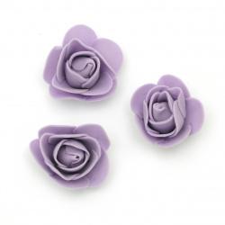 Цвят роза 35 мм гума цвят лилав -10 броя