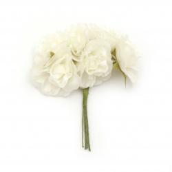 Τριαντάφυλλα σαμπανιζέ 40x100 mm από ύφασμα -6 τεμάχια ανά ματσάκι