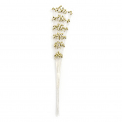 Twig pearls 210 mm color gold -30 pieces