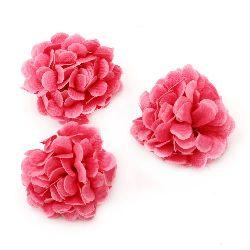 Цвят карамфил 45 мм с пънче за монтаж розов - 10 броя