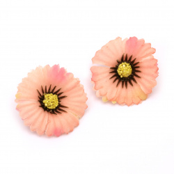 Flower aster 35 mm with stump for mounting pink -10 pieces