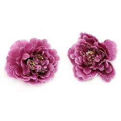 Peony 75 mm with a stump for installation  purple -5 pieces