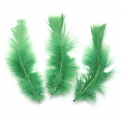 Feather for decoration 120~ 170x35~ 40 mm green - 10 pieces