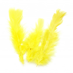 Bright yellow feather for various decoration 120~170x35~40 mm -10 pieces