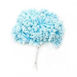 Arbust buchet zăpadă și cauciuc 85 mm albastru deschis -12 bucăți