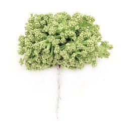 Διακοσμητικό ματσάκι θάμνος 85 mm πράσινο -12 τεμάχια