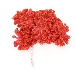 Bouquet of snow and rubber bush 85 mm red -12 pieces