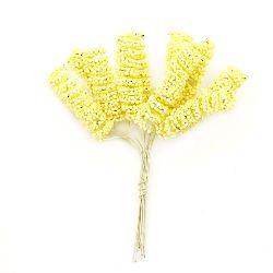 Flower spiral 10x35 mm yellow -12 pieces