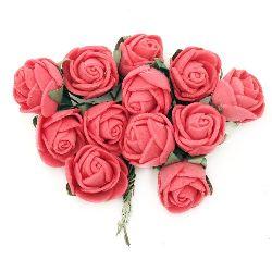Τριαντάφυλλα 20x90 mm κόκκινο -12 τεμάχια