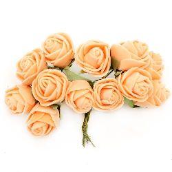 Τριαντάφυλλα 20x90 mm πορτοκαλί -12 τεμάχια
