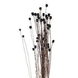 Buchet de flori uscate pentru decorare culoare violet închis ~ 63 bucăți